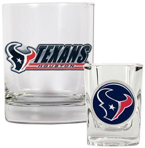 NFL Houston Texans Rocks Glass / Shot Glass
