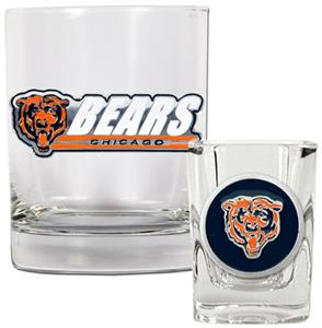 NFL Chicago Bears Rocks Glass / Shot Glass