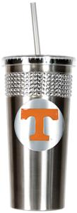 NCAA Tennessee Vols Stainless Bling Tumbler Straw