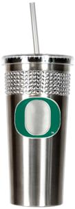 NCAA Oregon Ducks Stainless Bling Tumbler Straw