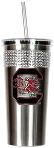 NCAA South Carolina Stainless Bling Tumbler Straw