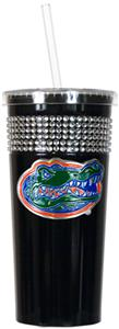 NCAA Florida Gators Black Bling Tumbler w/Straw