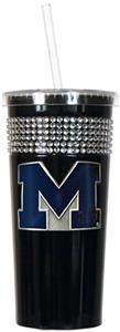 NCAA Michigan Black Bling Tumbler w/Straw