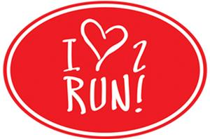 1 Line Sports Love 2 Run Magnet