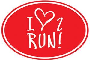 1 Line Sports Love 2 Run Magnet