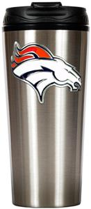 NFL Denver Broncos 16oz Slim Travel Tumbler