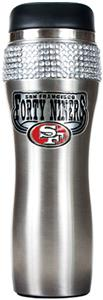 NFL San Francisco 49ers Stainless Bling Tumbler