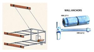 Stationary Wall Mounted Aluminum Basketball System