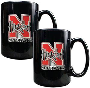 NCAA Nebraska Cornhuskers 2pc Coffee Mug Set