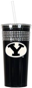 NCAA Brigham Young Black Bling Tumbler w/Straw