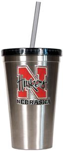 NCAA Nebraska Stainless Steel 16oz Tumbler