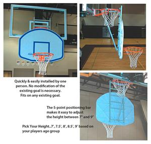 Little Champ Adjustable Basketball Backboard