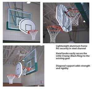 Little Champ Basketball Backboard Adapter