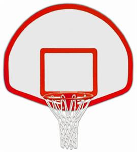 Aluminum Fan Basketball Backboard Border & Target