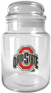 NCAA Ohio State Buckeyes Glass Candy Jar