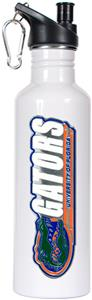 NCAA Gators White Stainless Steel Water Bottle