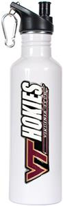 NCAA Hokies White Stainless Steel Water Bottle