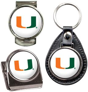 NCAA Miami Key Chain Money Clip & Magnet Set