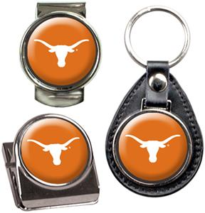 NCAA Longhorns Key Chain Money Clip & Magnet Set