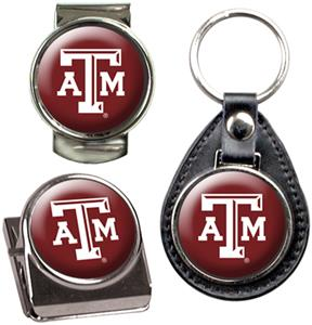 NCAA Texas A&M Key Chain Money Clip & Magnet Set