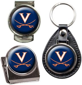 NCAA Virginia Key Chain Money Clip & Magnet Set