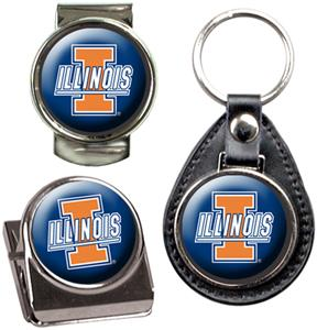 NCAA Illinois Key Chain Money Clip & Magnet Set