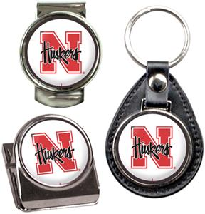 NCAA Nebraska Key Chain Money Clip & Magnet Set