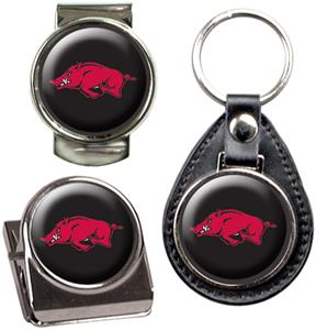NCAA Arkansas Key Chain Money Clip & Magnet Set
