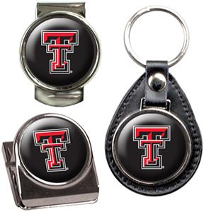 NCAA Texas Tech Key Chain Money Clip & Magnet Set