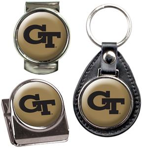Georgia Tech Key Chain Money Clip & Magnet Set