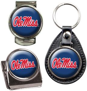 NCAA Mississippi Key Chain Money Clip & Magnet Set