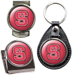 NCAA NC State Key Chain Money Clip & Magnet Set