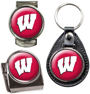 NCAA Wisconsin Key Chain Money Clip & Magnet Set