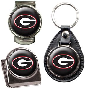 NCAA Georgia Key Chain Money Clip & Magnet Set