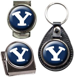 Brigham Young Key Chain Money Clip & Magnet Set