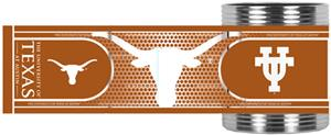 NCAA Longhorns Stainless Can Holder Hi-Def Wrap