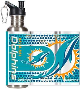 NFL Miami Dolphins Stainless Steel Water Bottle