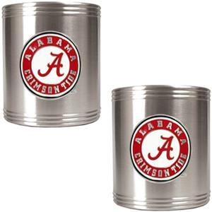 NCAA Alabama 2pc Stainless Steel Can Holder Set