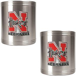 NCAA Nebraska 2pc Stainless Steel Can Holder Set
