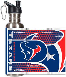 NFL Houston Texans Stainless Steel Water Bottle