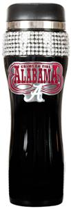 NCAA Alabama Black Stainless Bling Travel Tumbler