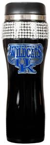 NCAA Kentucky Black Stainless Bling Travel Tumbler