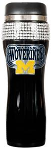 NCAA Michigan Black Stainless Bling Travel Tumbler