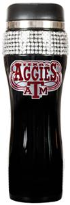 Texas A&M Black Stainless Bling Travel Tumbler