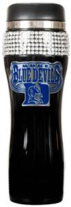 NCAA Duke Black Stainless Bling Travel Tumbler