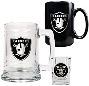 NFL Oakland Raiders Tankard/Mug/Shot Glass Set