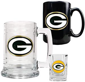 NFL Green Bay Packers Tankard/Mug/Shot Glass Set