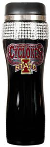 Iowa State Black Stainless Bling Travel Tumbler