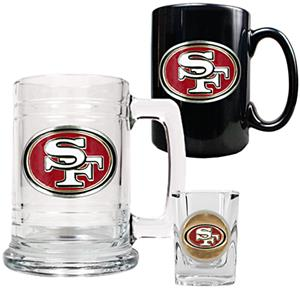NFL San Francisco 49ers Tankard/Mug/Shot Glass Set