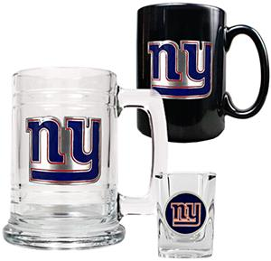 NFL New York Giants Tankard/Mug/Shot Glass Set